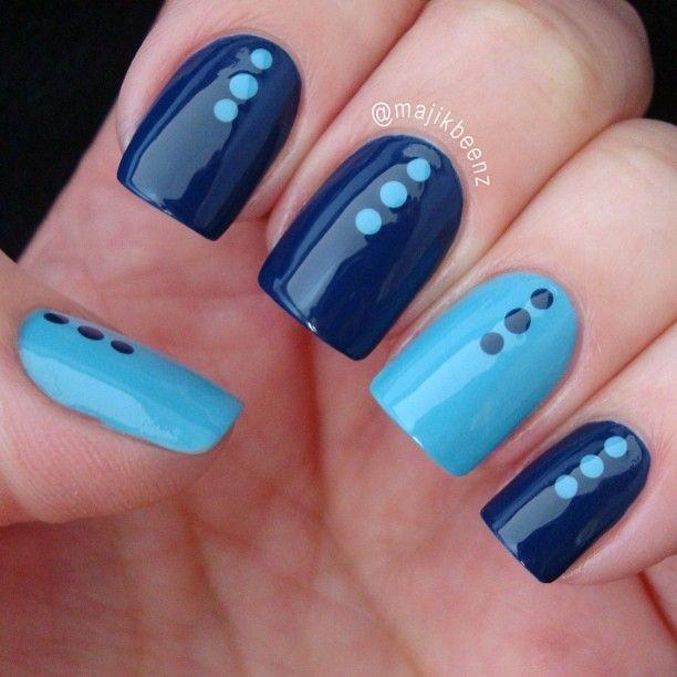 Ideas Para Decorar Las Uñas De Azul Mis Uñas Decoradas